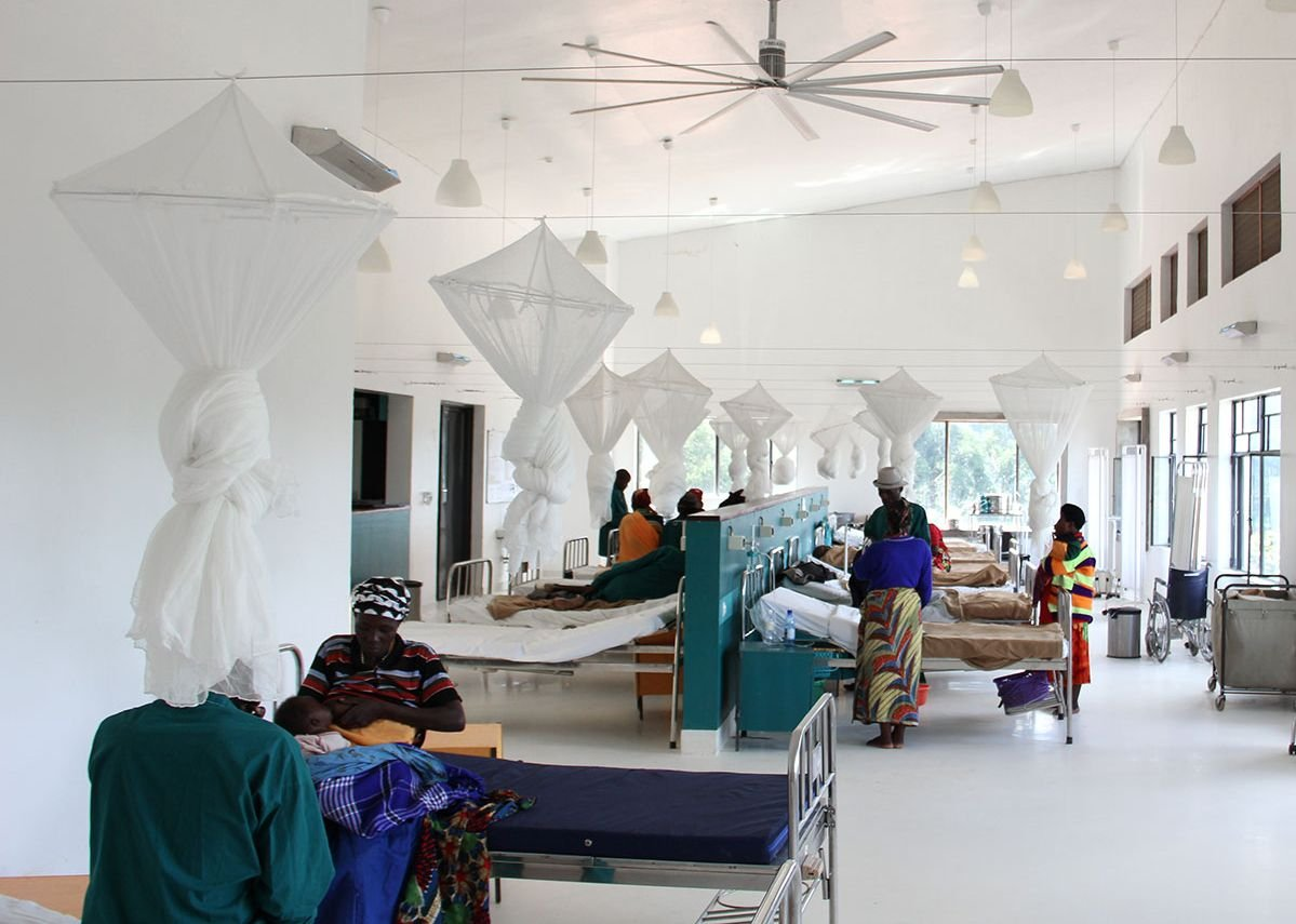 A view inside the Butaro District Hospital. Credit: MASS Design Group / Alan Ricks.