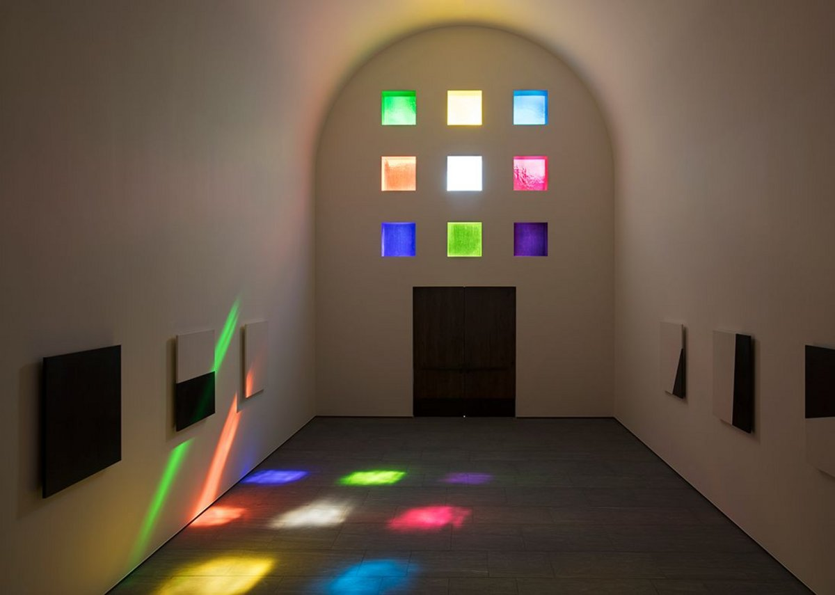 Interior of Ellsworth Kelly's, Austin, facing south.