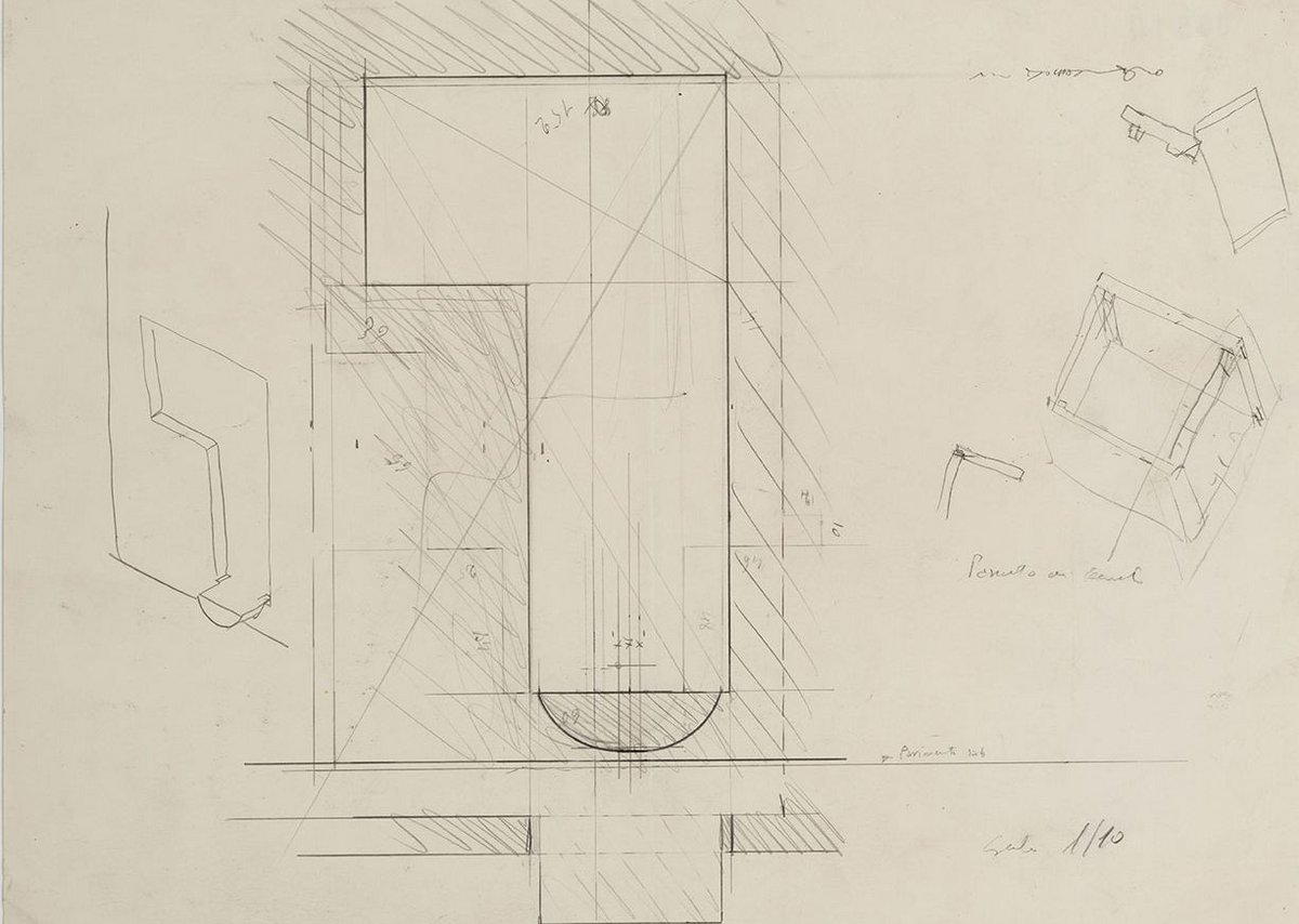 Scarpa sketch of the entrance niche.