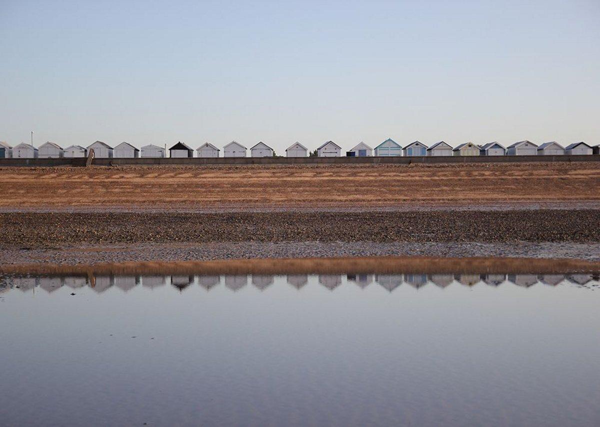 Estuary beach huts.
