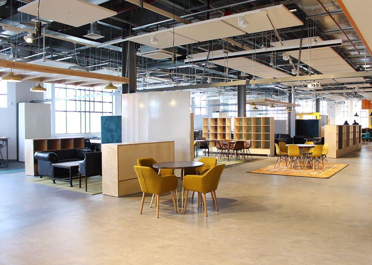 The co-working space at The Marlands Southampton designed by HPW Architects.