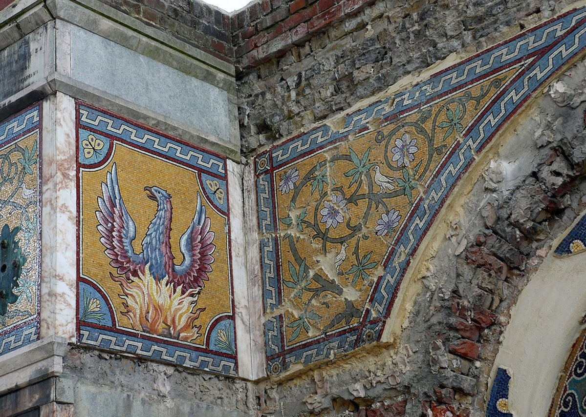 Work in progress: mosaics restored and stabilised.