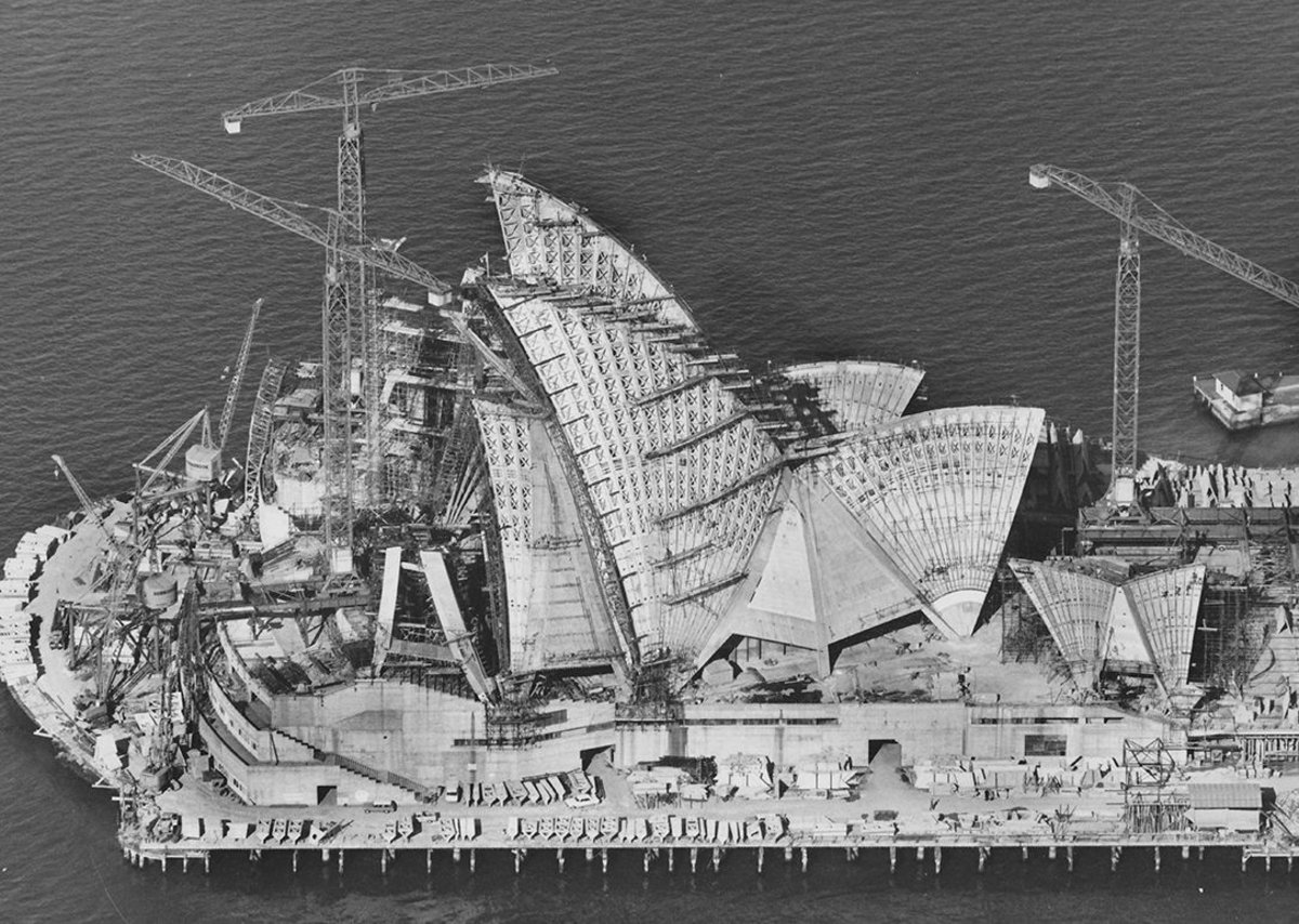Sydney Opera House under construction 6 April 1966 Robert Baudin for Hornibrook Ltd.