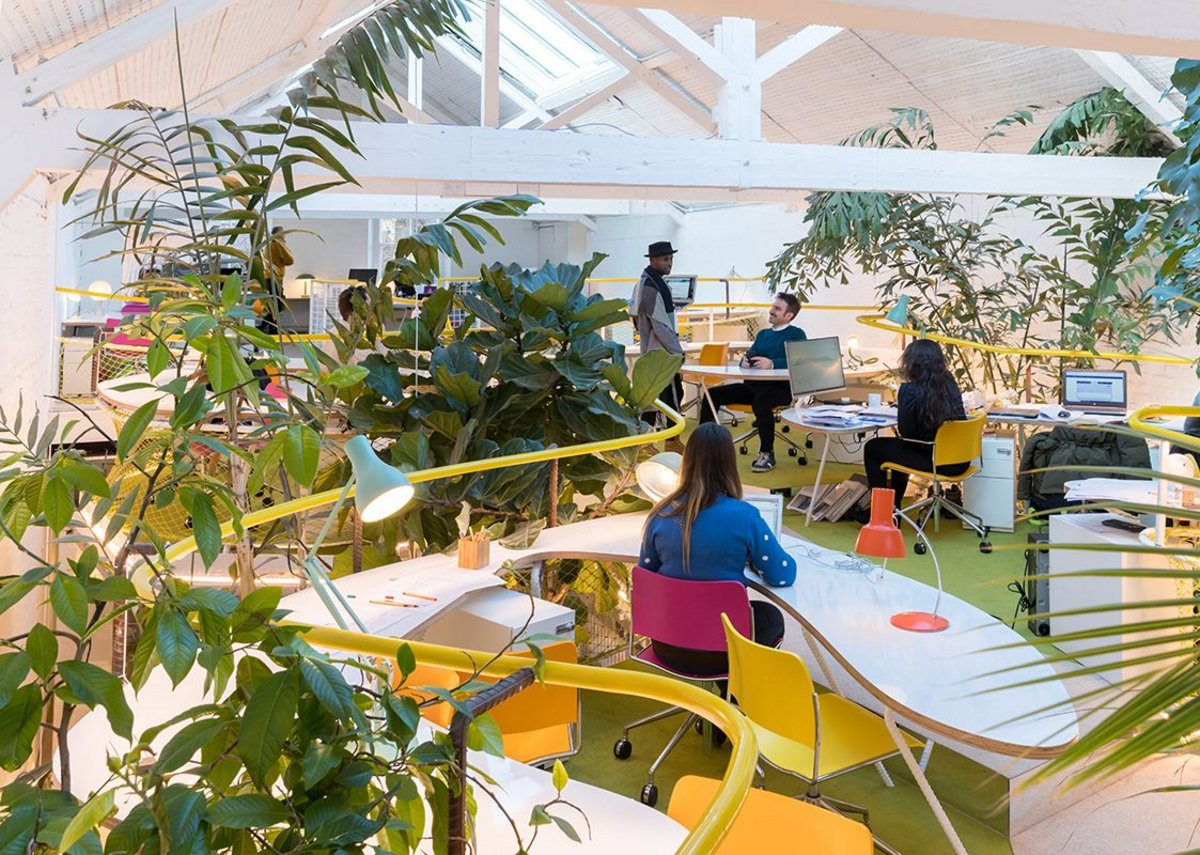 In the canopy: the upper working spaces at Second Home Holland Park.