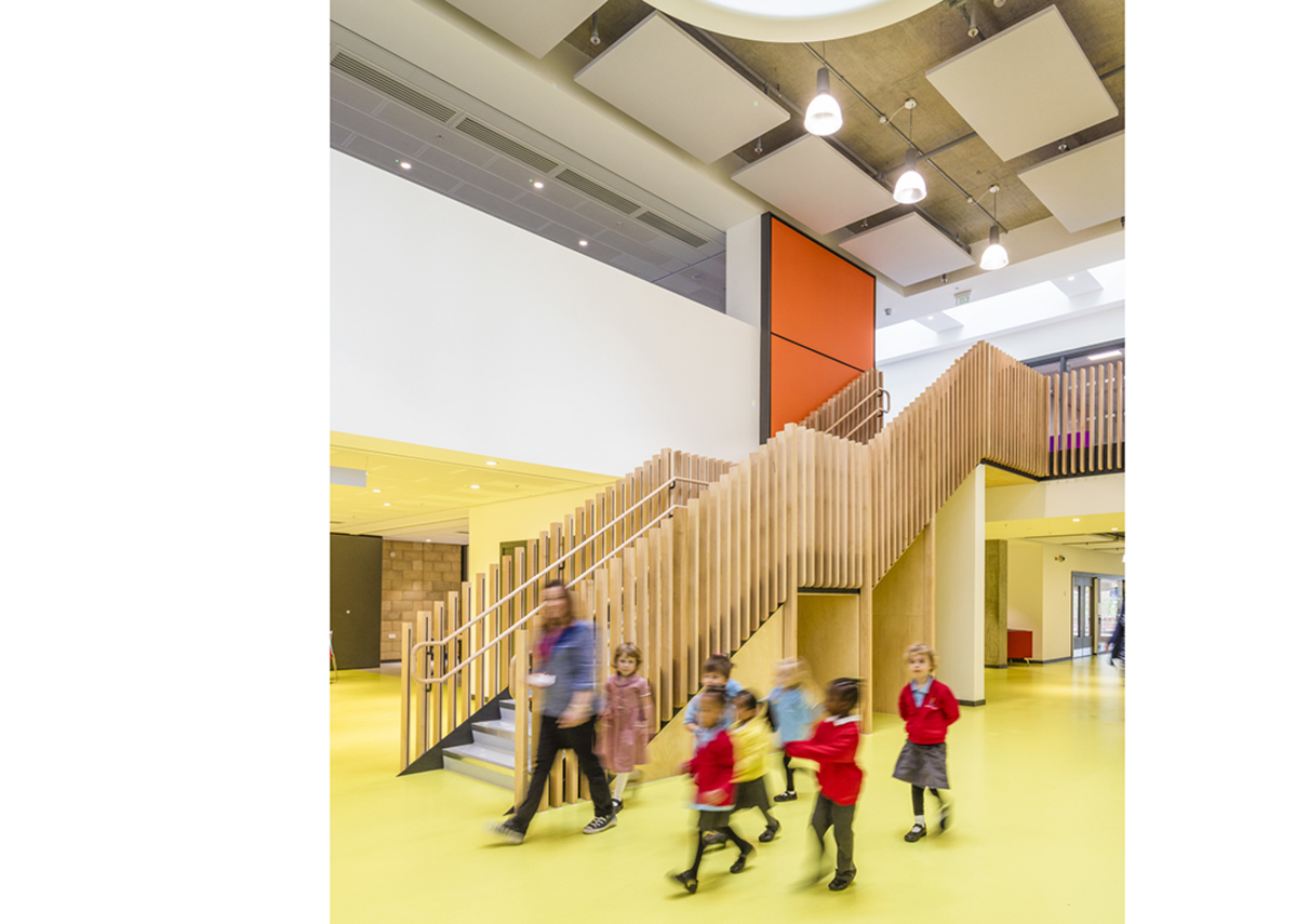 David Morley Architects' King's Cross Academy and Frank Barnes School for Deaf Children.