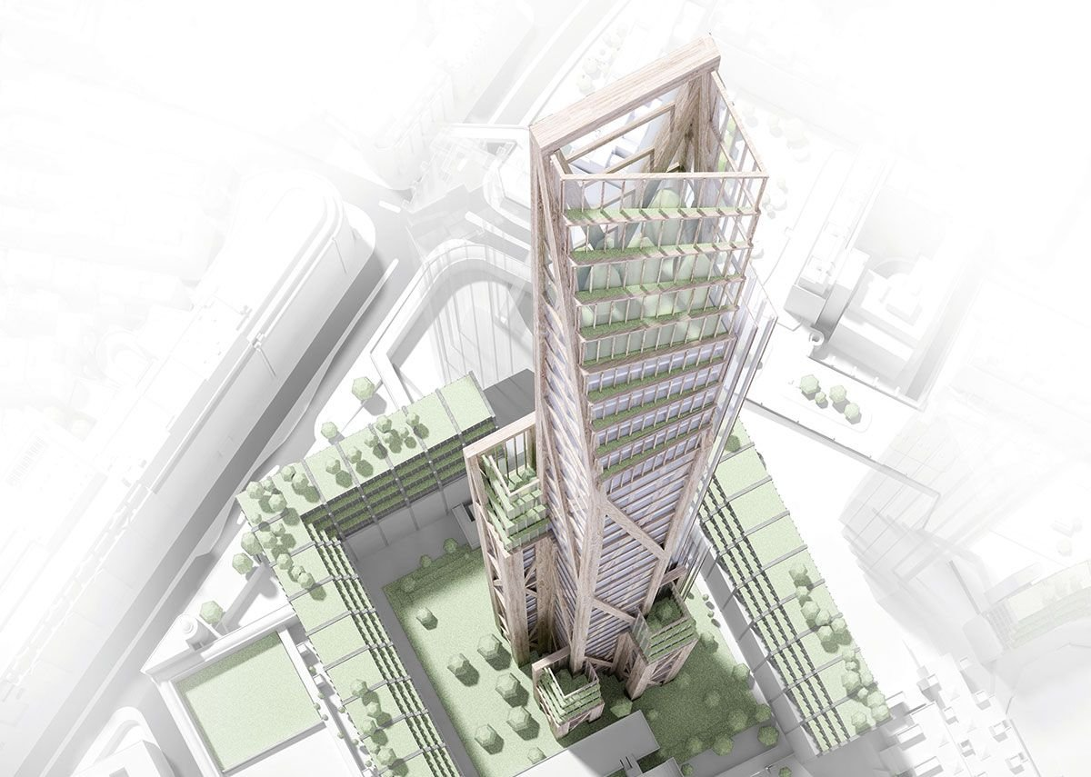 PLP's Oakwood Tower proposal for the City is 304.8m tall.