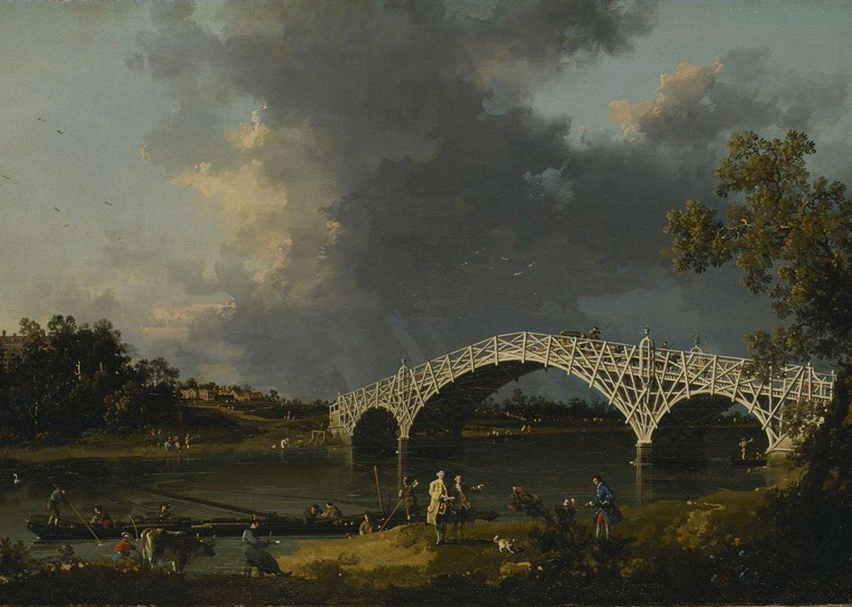 A piece of rural engineering in A View Of Walton Bridge.