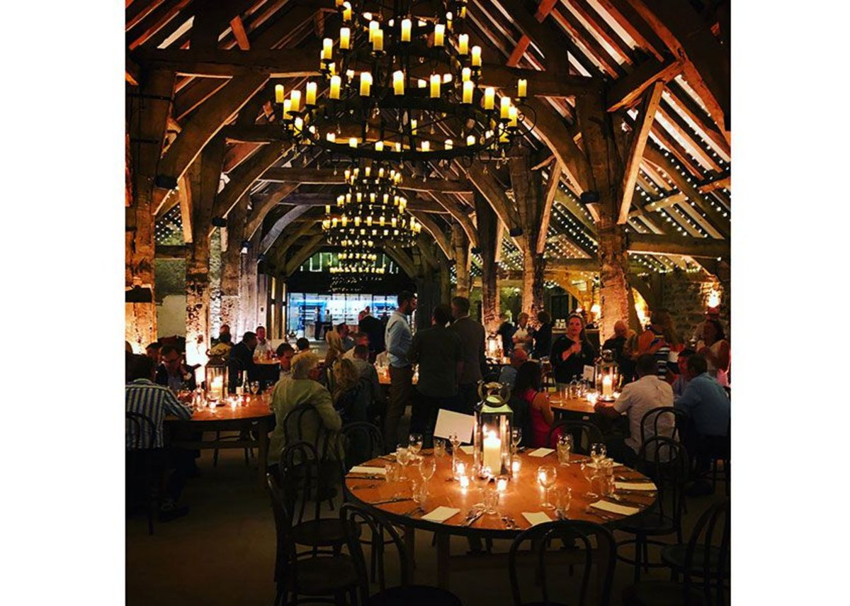 More tables than tithes. The Great Barn, Bolton Abbey, Skipton. Pearce Bottomley Architects, RIBA regional award and regional conservation award 2019. Credit Thomas Robbins