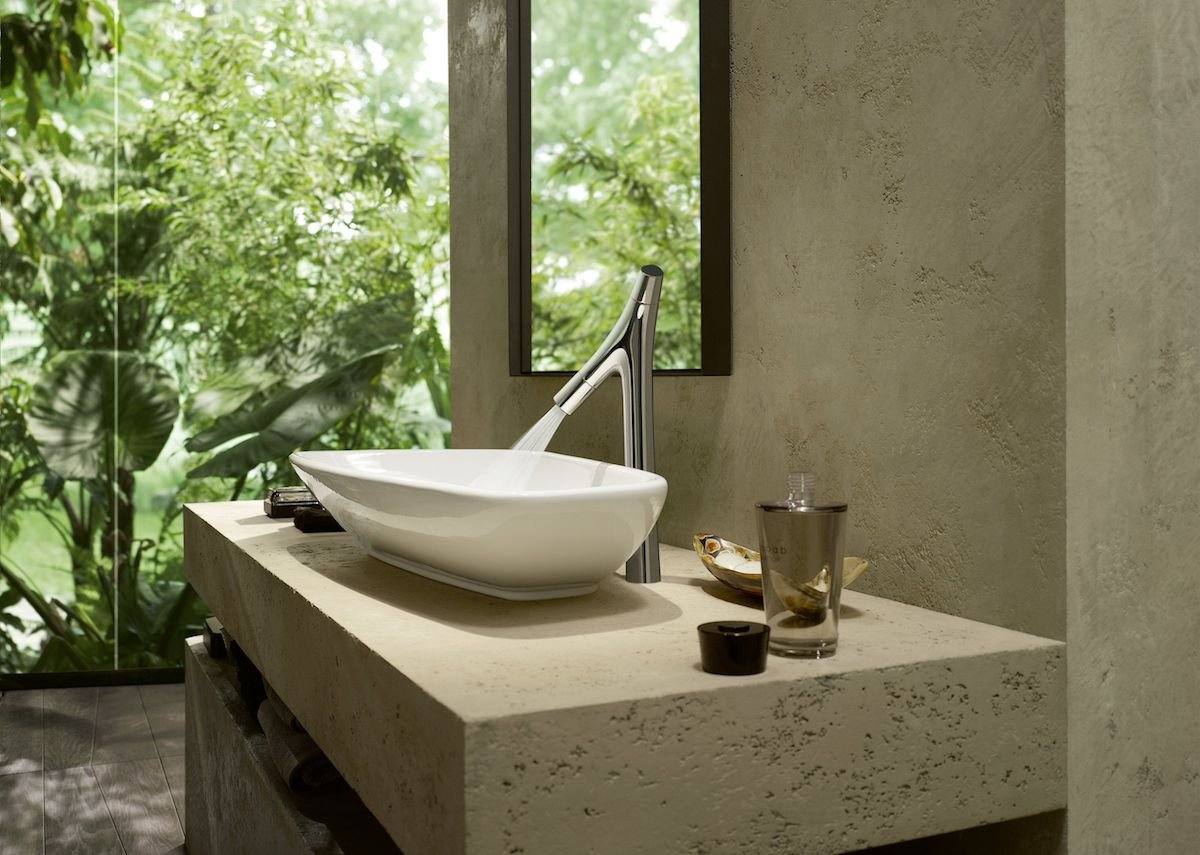 AXOR Starck Organic basin mixer for wash bowls.