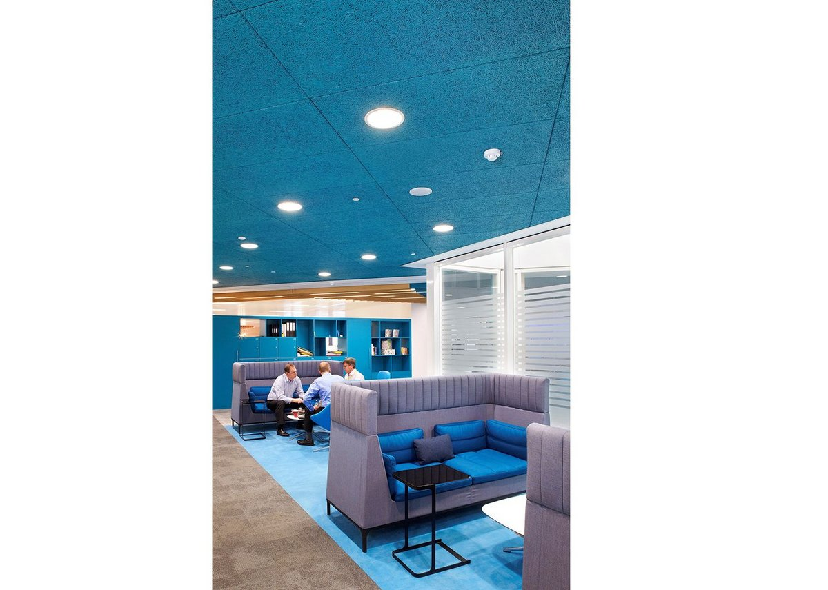 Bright and sustainable: Heradesign acoustic ceilings, fins, islands or wall panels from Knauf AMF