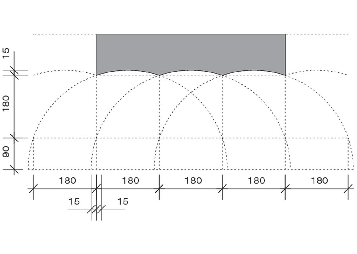 Flute width was based on Vitruvian principles and the building's scale.
