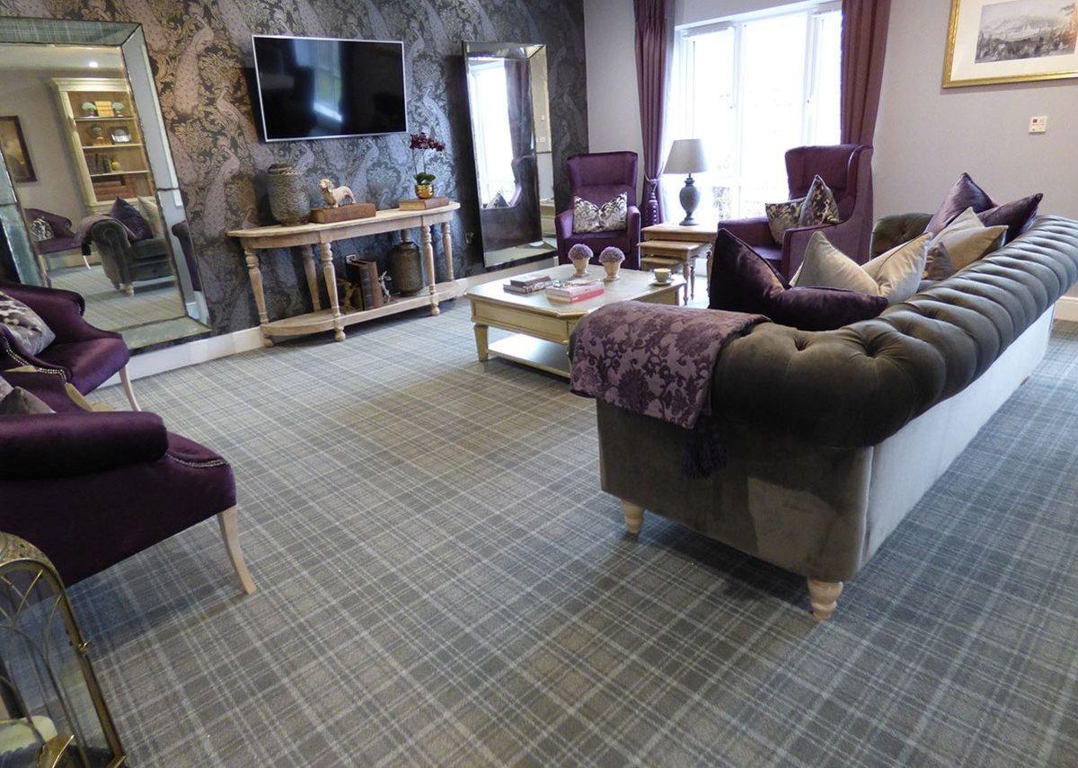 Origin 573 Evolution range carpet at MHA Montpellier Manor care home, Stainton, Middlesborough.