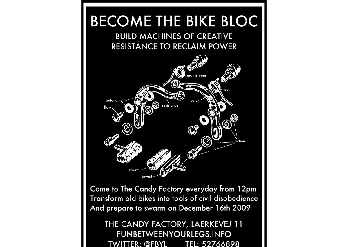Bike Bloc graphic poster.