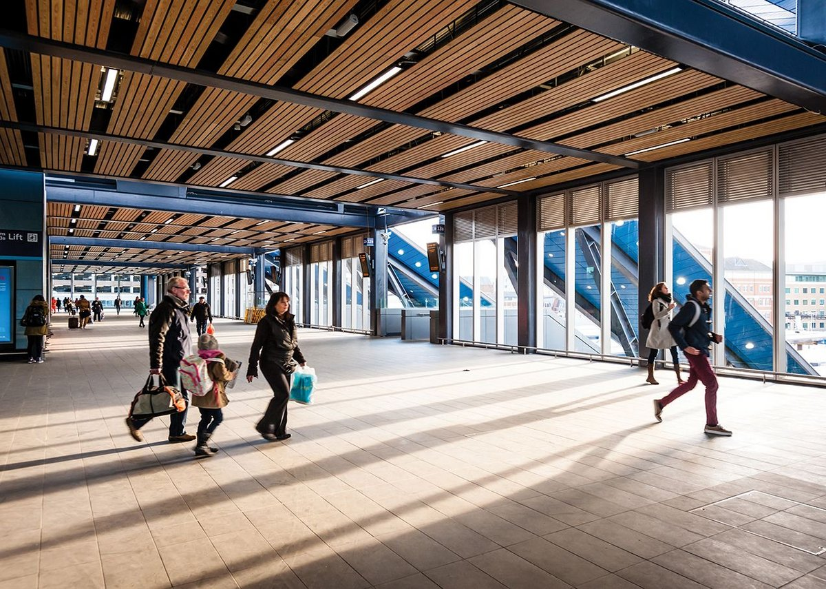 The new, far wider transfer deck anticipates a sharp increase in passengers at the station.