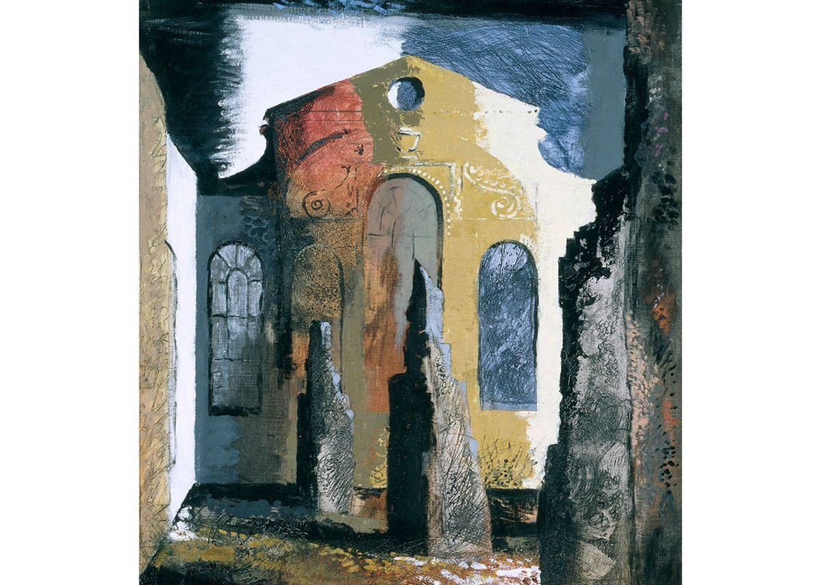 Christ Church, Newgate Street by John Piper, 1941.