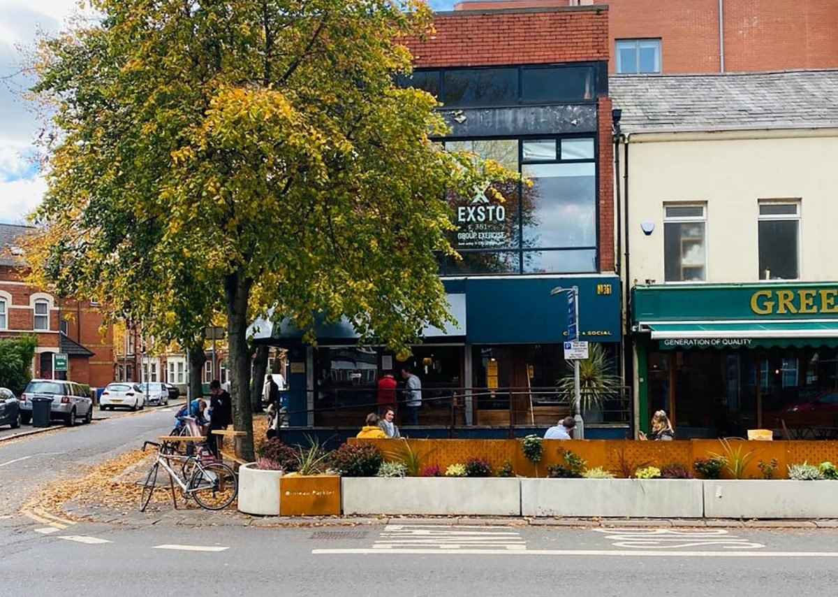 The Ormeau Parklet.
