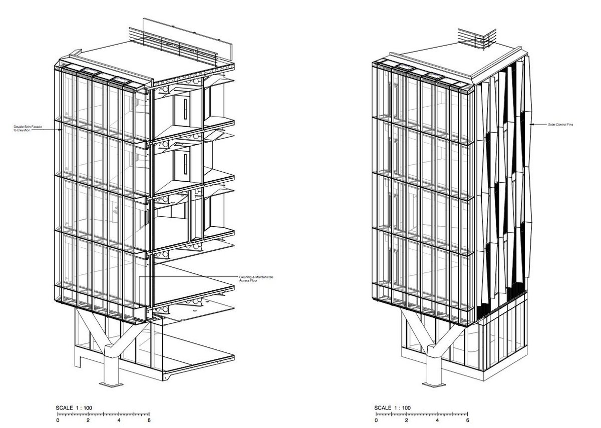 Facade axonometric.