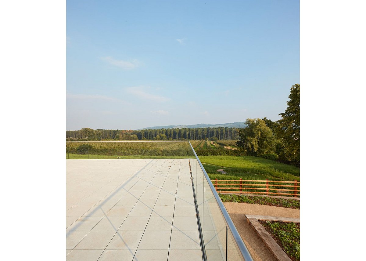 Above the lower ground floor conference room an extended terrace calls out for summer time events. Dennis Gilbert VIEW