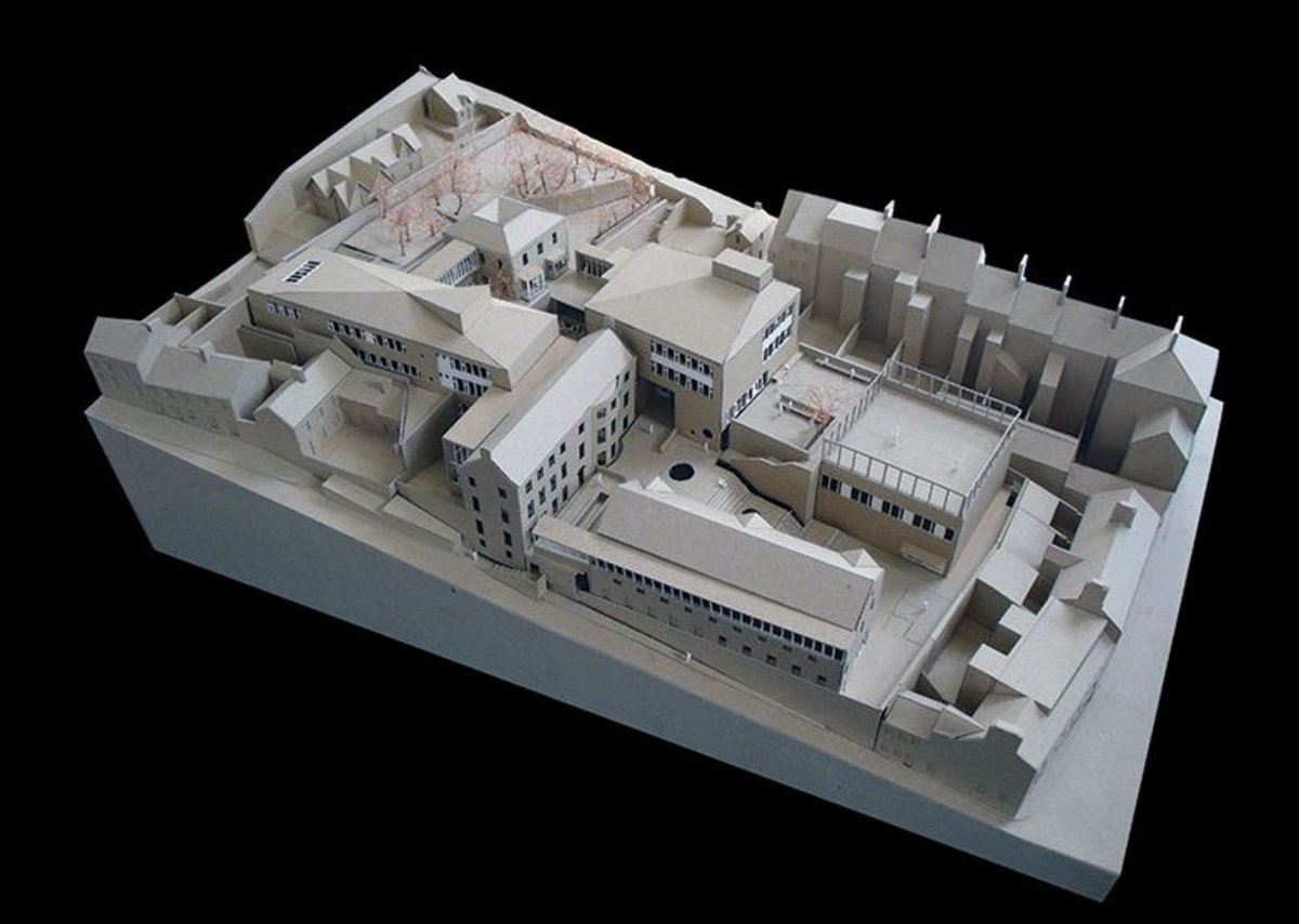 St Angela's College  physical model.