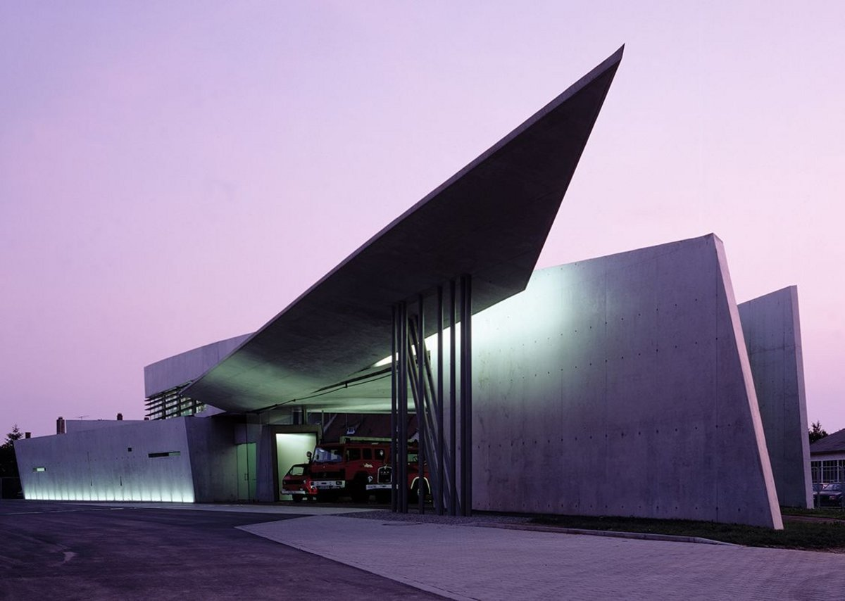 Vitra Fire Station, Weil am Rhein, Germany.