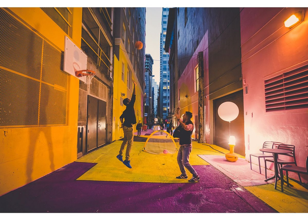 Alley Oop Laneway Activation by HCMA Architecture + Design.