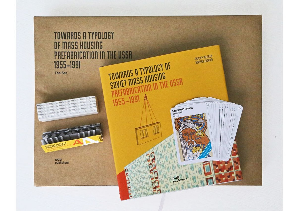 Box set featuring the Towards a Typology of Mass Housing book plus Top Trumps set of cards and a plaster model.