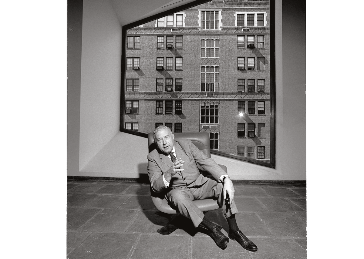 Marcel Breuer photographed at the Whitney Museum, New York, in 1964 by Marc Bernheim.