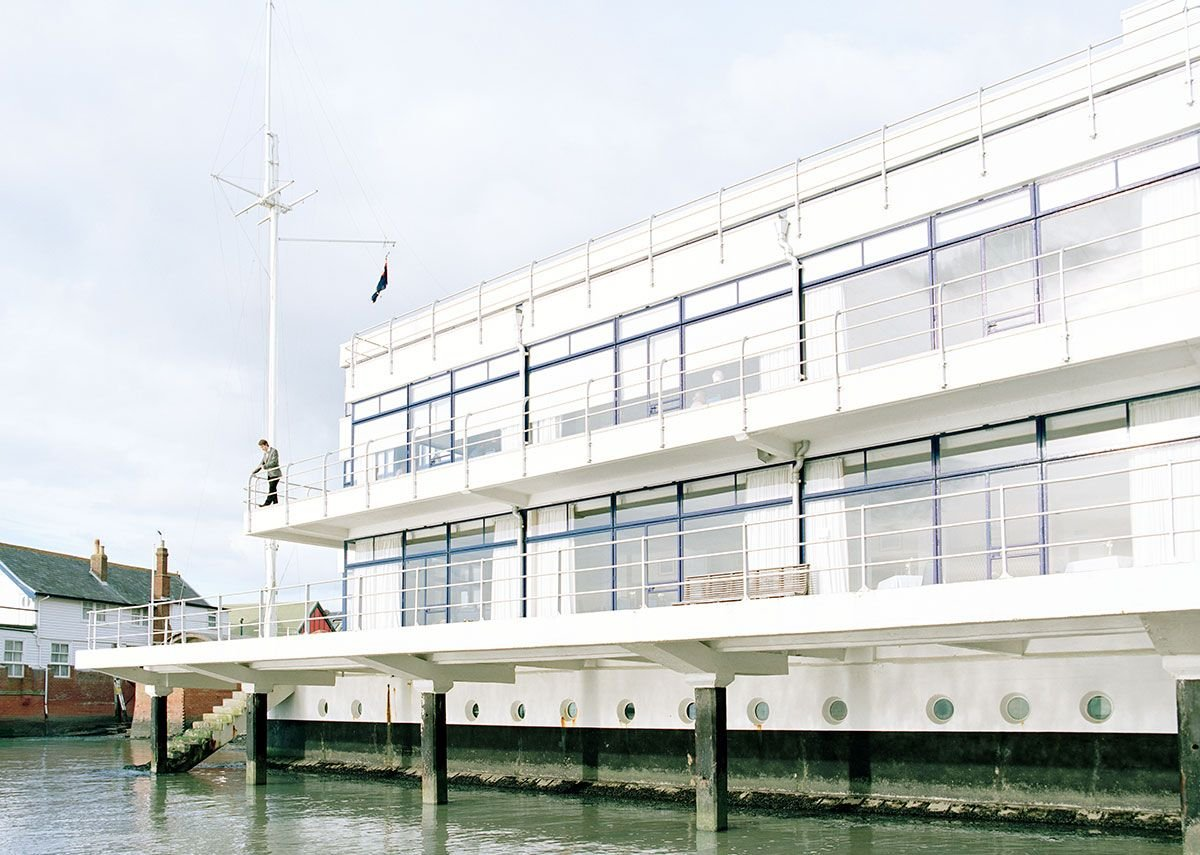 Royal Corinthian Yacht Club, Burnham-on-Crouch, 2016, designed by Joseph Emberton in 1931.