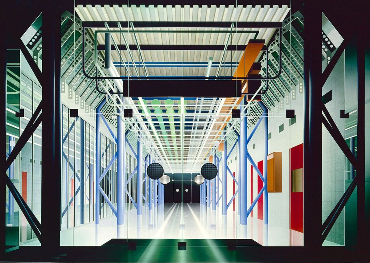 Ben Johnson, Inmos Central Spine, 1985 Acrylic on canvas
