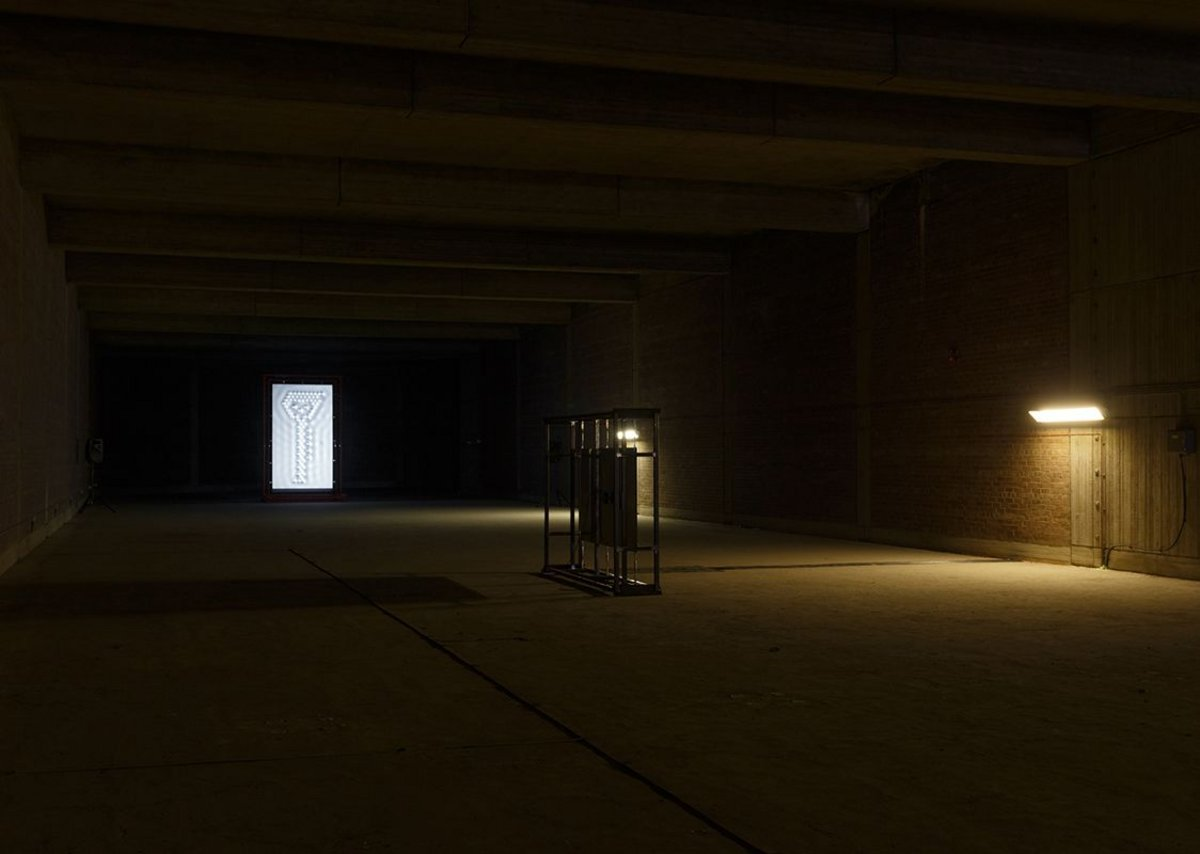 Installation view, Steven Claydon at Moore Street electricity substation. Courtesy Art Sheffield.