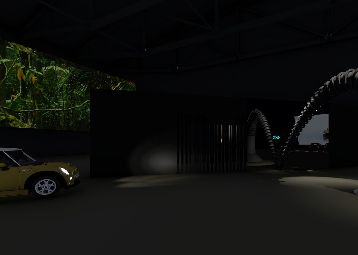 West 8's proposal of how the drive-thru museum experience would look.