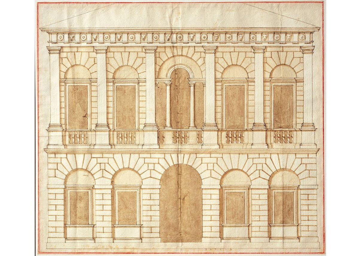 Design for a palace by Andrea Palladio (c1540s)