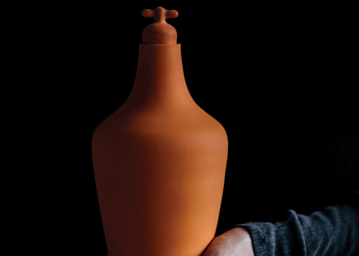 Ceramic Tap Water Carafe, designed by Lotte de Raadt to encourage people to drink tap water.