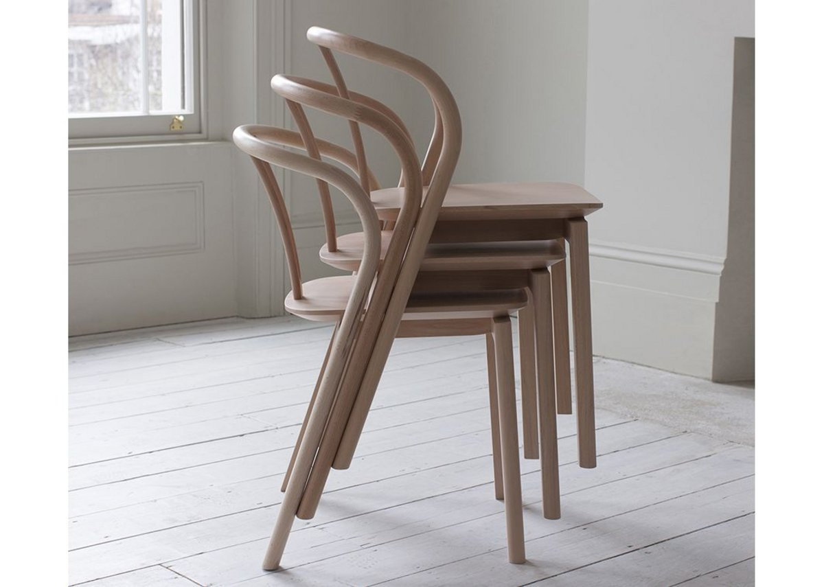 Production made - Ercol's Flow Chair in European Beech.