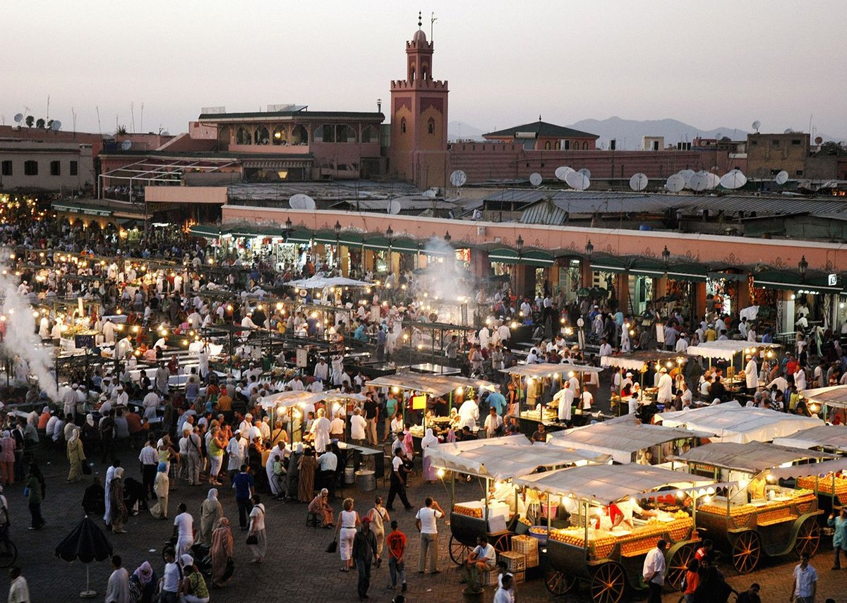 Night market in Marrakech, Morroco.