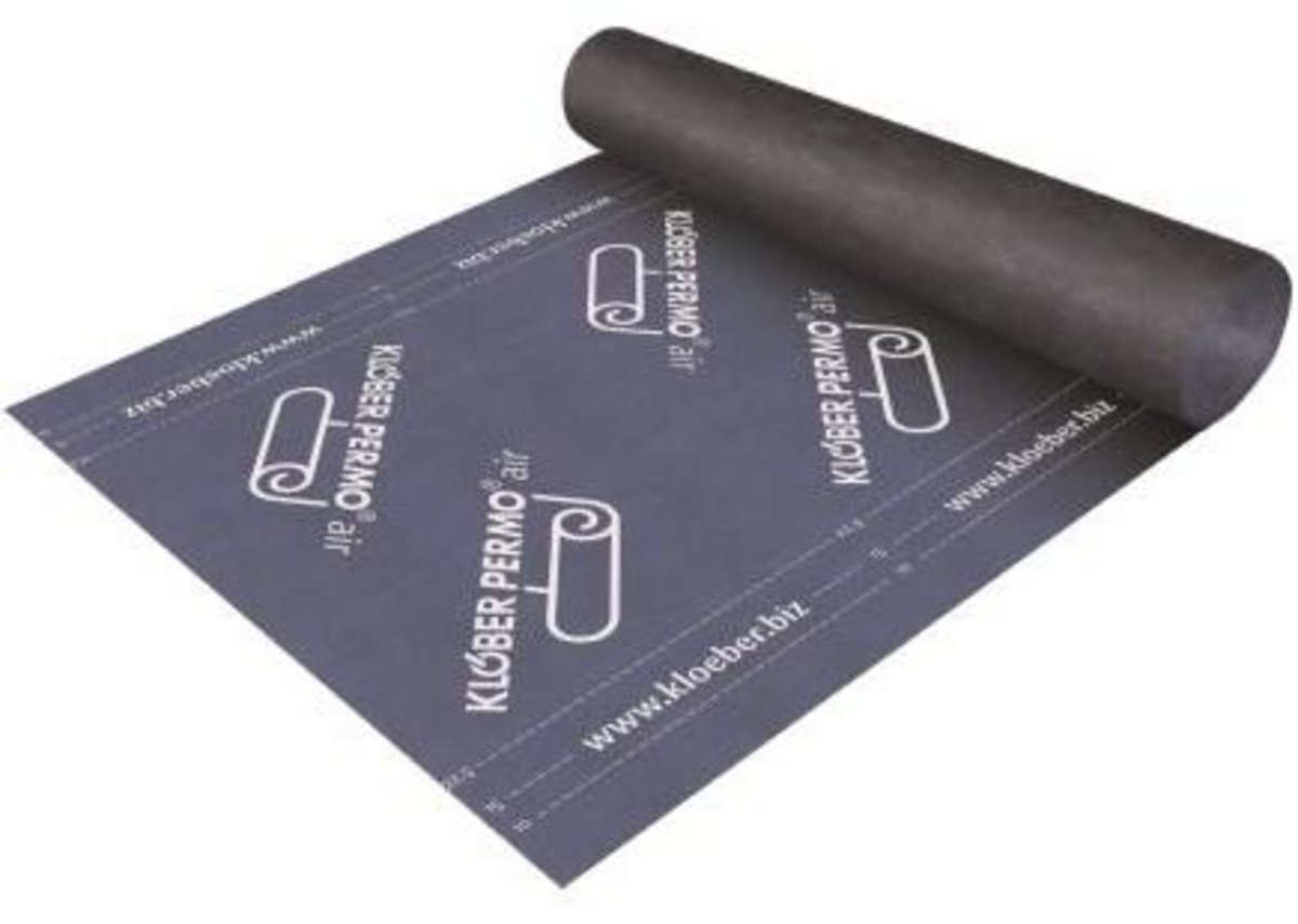 Klober's air-open underlay for ventilation performance.