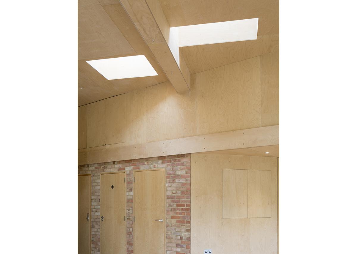 Inside Office Sian's shortlisted Phoenix Garden Community Building.
