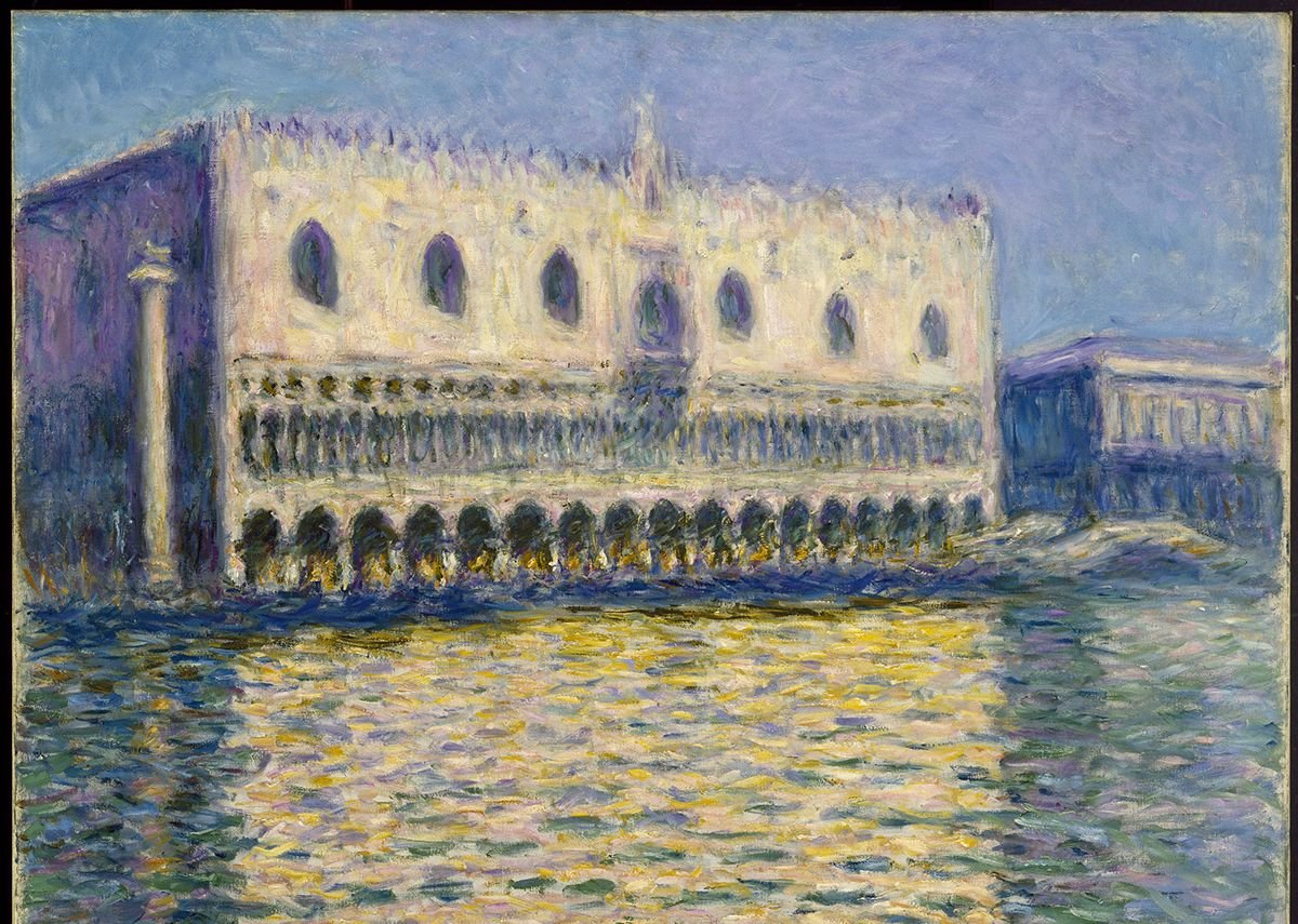 Claude Monet, The Doge's Palace (Le Palais ducal), 1908.