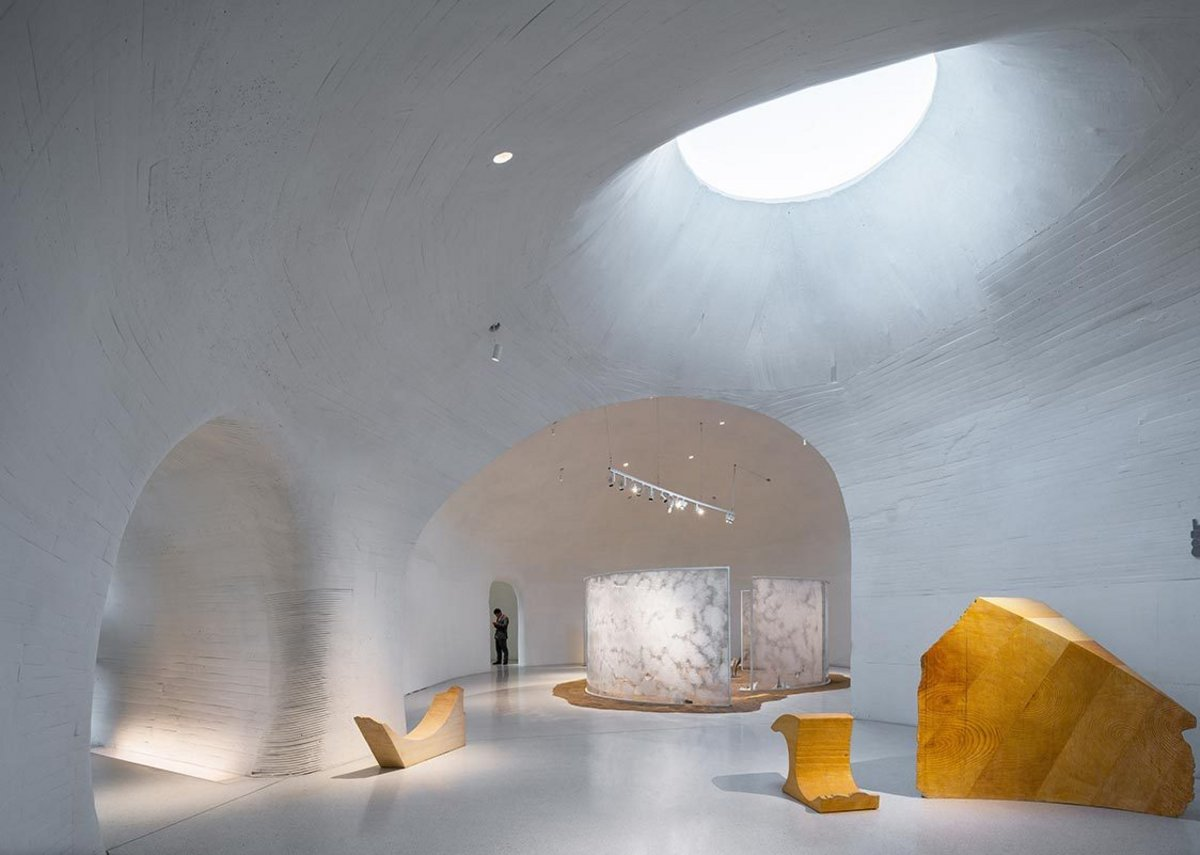 Galleries with skylights at UCCA Dune Art Museum, China.