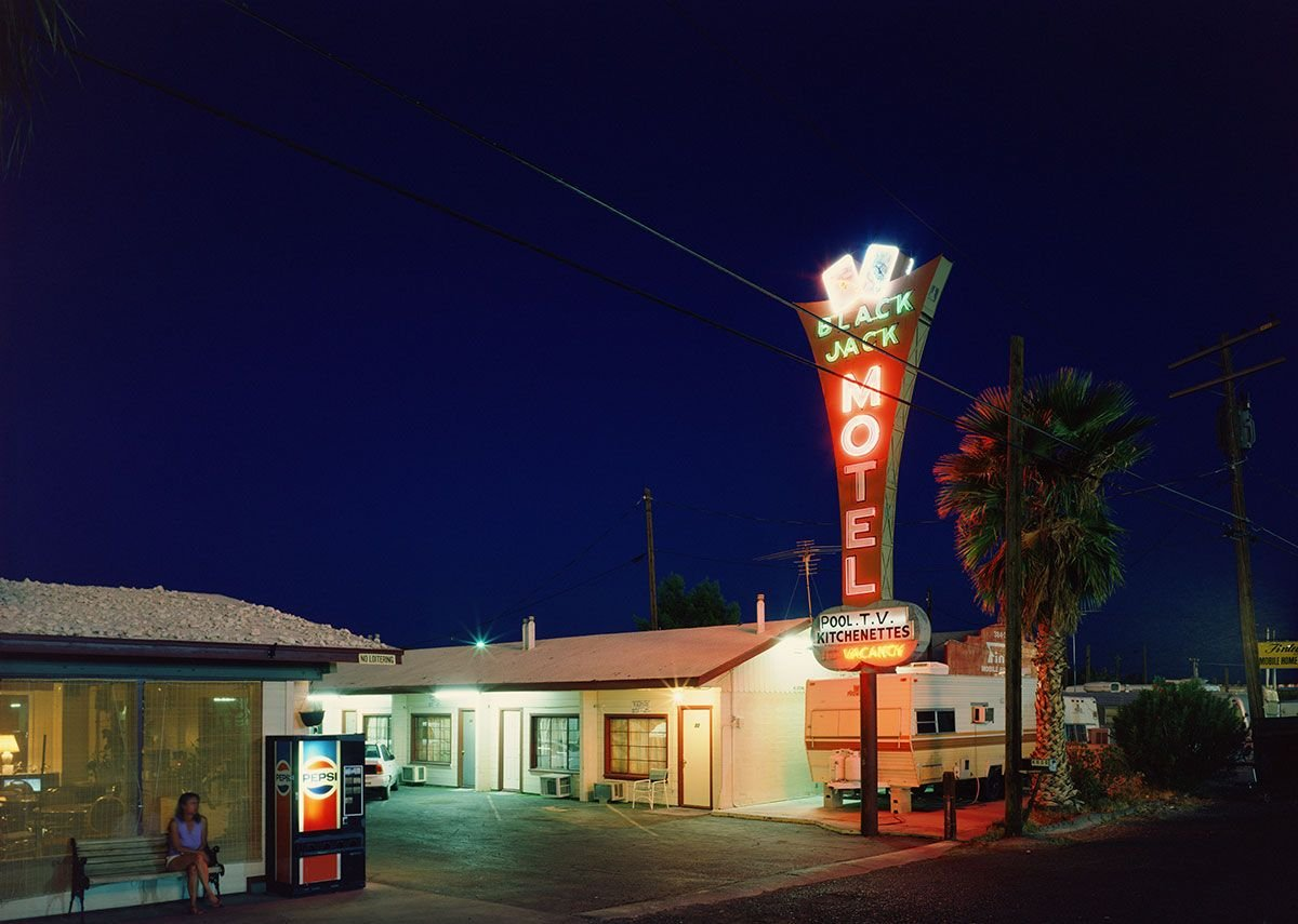 The Black Jack Motel by Fred Sigman (1995), from the new book Motel Vegas