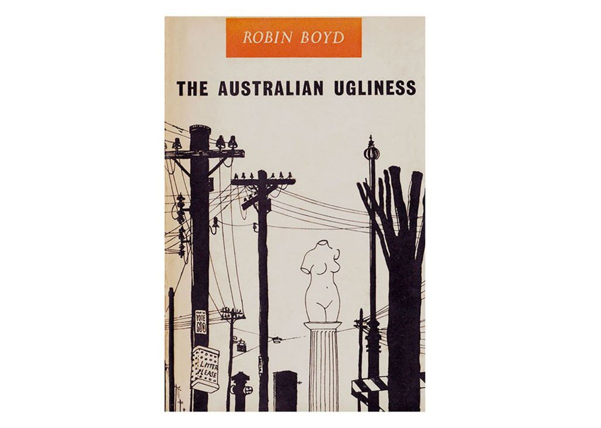 The original book cover of The Australian Ugliness (1960); designed by Robin Boyd.