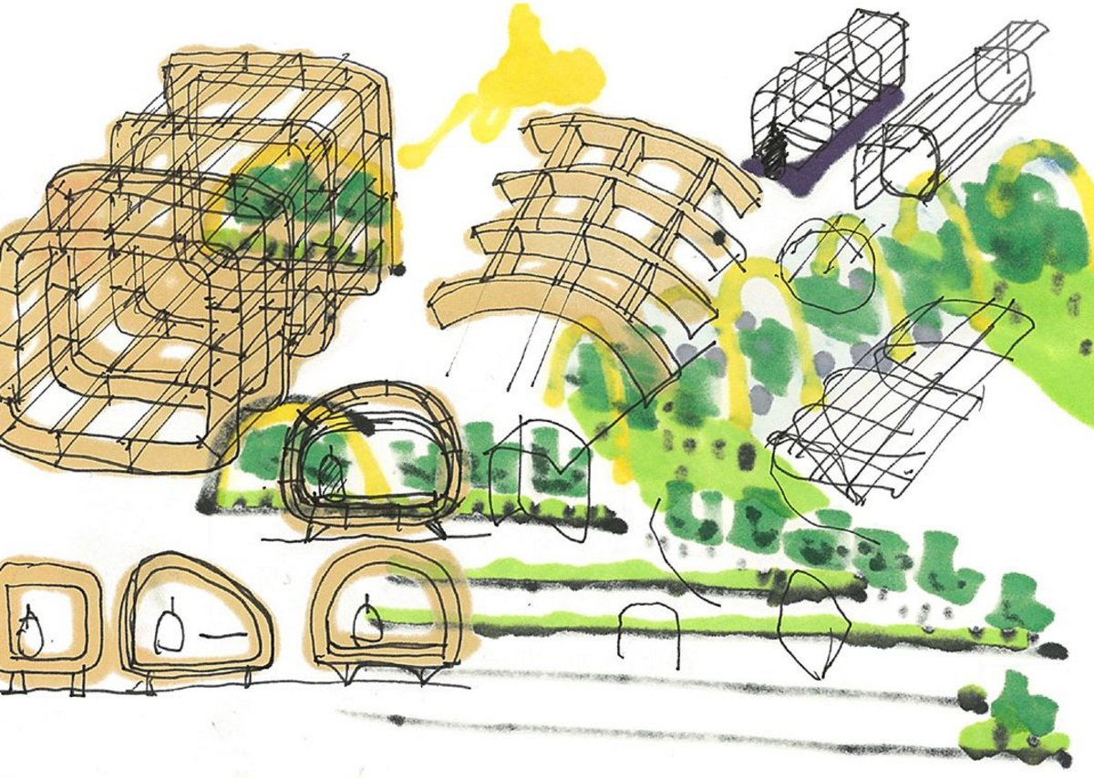 Concept sketch for Doctors of the World project, 2018. Credit: Rogers Stirk Harbour + Partners.