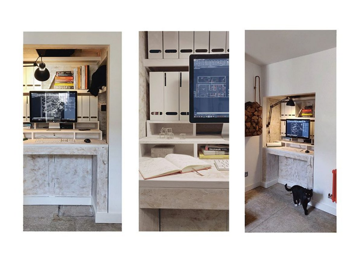 Photographs of the finished proposal in situ.