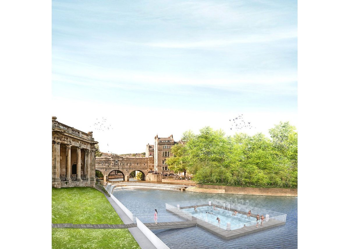 Another pool, warmed by spa waters alongside Parade Gardens by Michael Lewis.