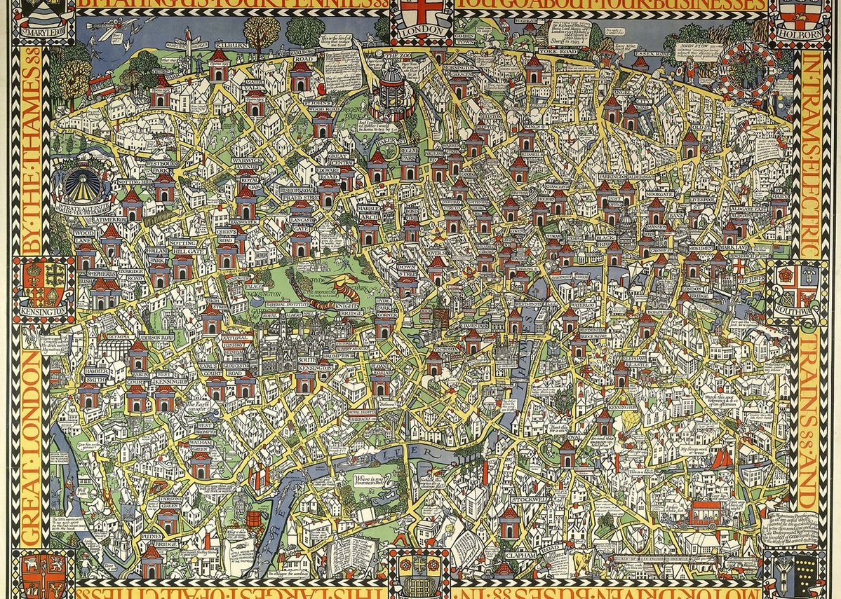 The Wonderground Map of London Town (1914).