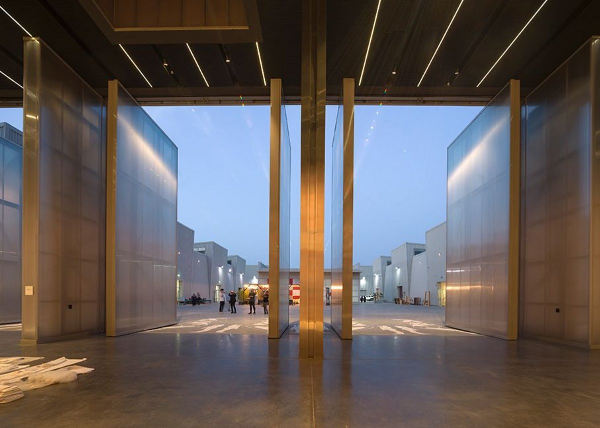 Concrete at Alserkal Avenue, Dubai, designed by Office for Metropolitan Architecture.