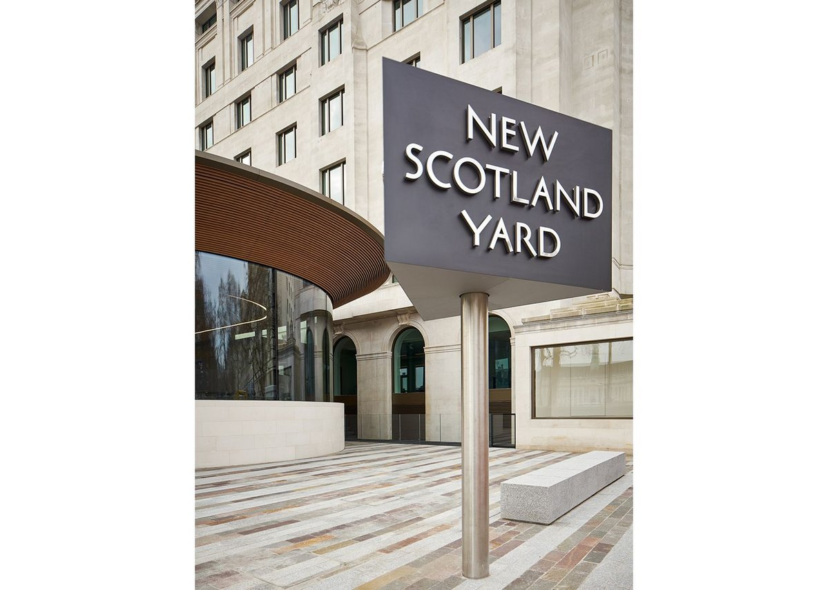 New Scotland Yard Westminster London by AHMM