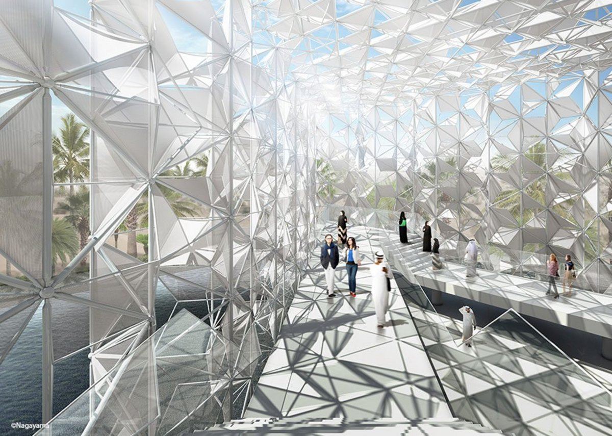 The Japan Pavilion for Expo 2020 Dubai, designed by Yuko Nagama & Associates. Arup is the engineering consultant, delivering SMEP, fire, facade, security, architect of report and site supervision services.