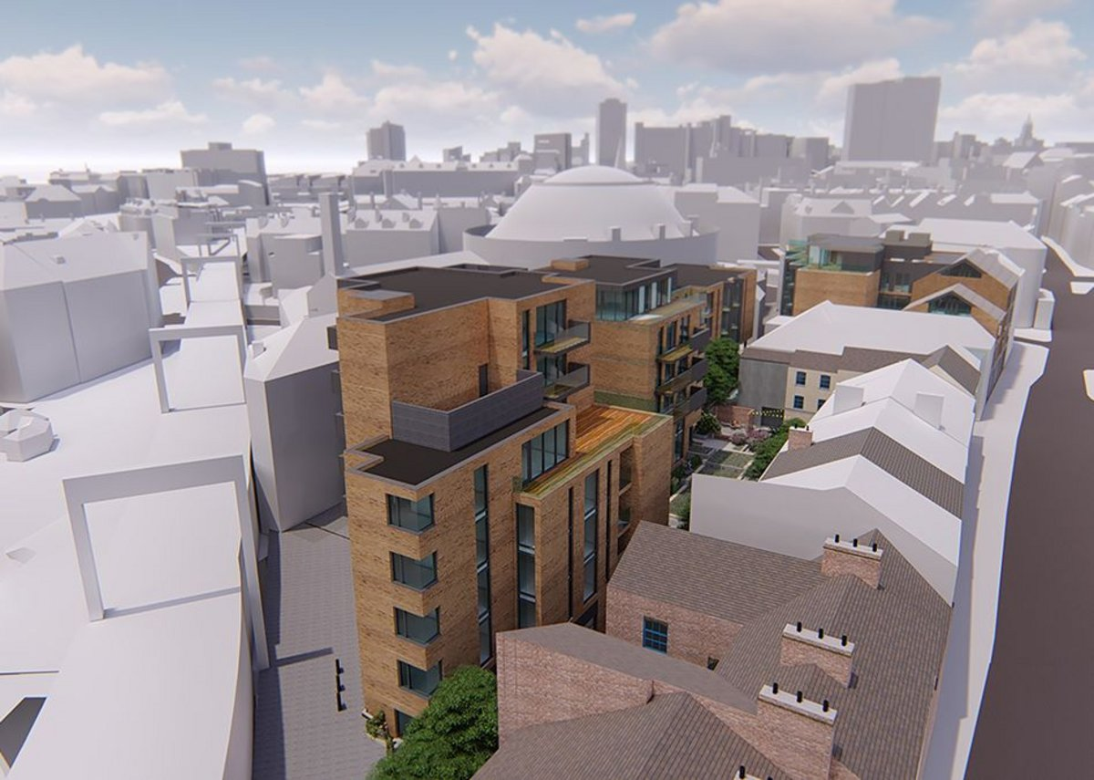 Think Architecture's Crown Square on Kirkgate will provide 80 new apartments as well as ground floor retail and leisure.