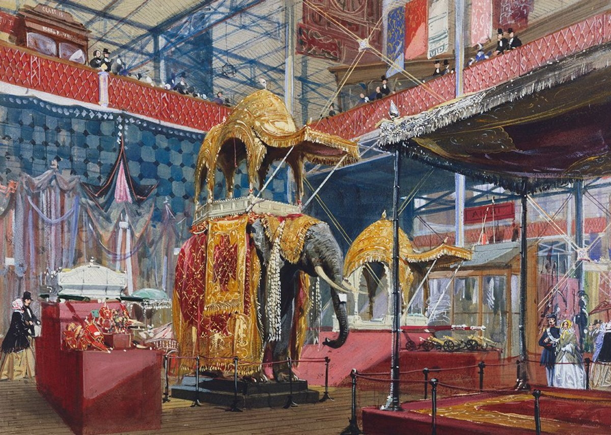 The Great Exhibition, India no 4, by Joseph Nash, c1851. The exhibition inspired a teenage Lockwood Kipling to pursue a career in arts & crafts.
